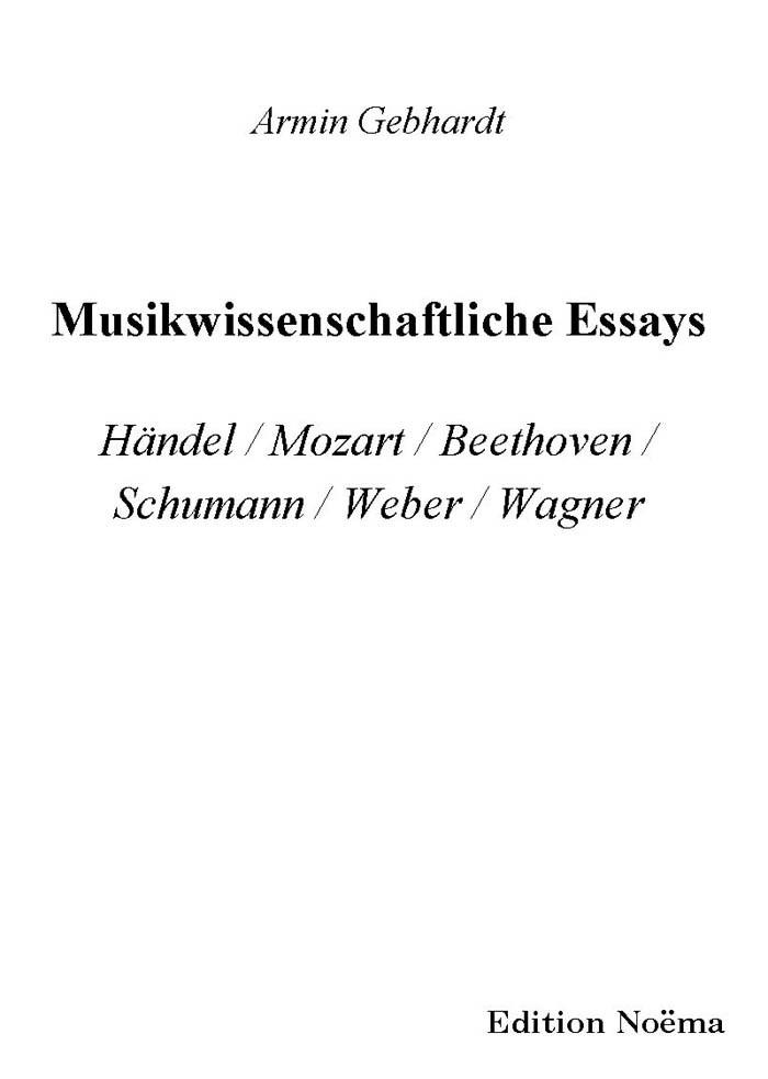 Musikwissenschaftliche Essays
